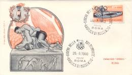 Italia Italy 1960 Annullo Speciale Su Busta 26 Agosto Roma Basilica Di Massenzio XVII Giochi Olimpici 17th Olympic Games - Estate 1960: Roma