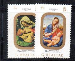 GIBILTERRA 1974 , Natale  Serie N. 312/313  MNH  *** - Gibilterra