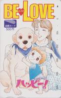 Carte Prépayée Japon - MANGA - BE LOVE - Fille Enfant & Chien - Dog Animal Japan Prepaid Tosho Card - 11551 - BD