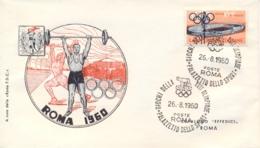 Italia Italy 1960 Annullo Su Busta 26 Agosto Roma Palazzetto Dello Sport XVII Giochi Olimpici 17th Olympic Games - Estate 1960: Roma
