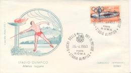 Italia Italy 1960 Annullo Speciale Su Busta 26 Agosto Roma Stadio Olimpico XVII Giochi Olimpici 17th Olympic Games - Estate 1960: Roma
