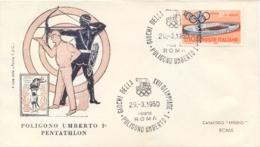 Italia Italy 1960 Annullo Speciale Su Busta 29 Agosto Roma Poligono Umberto I XVII Giochi Olimpici 17th Olympic Games - Estate 1960: Roma
