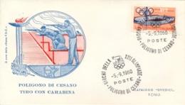 Italia Italy 1960 Annullo Speciale Su Busta 5 Settembre Poligono Di Cesano XVII Giochi Olimpici 17th Olympic Games - Estate 1960: Roma