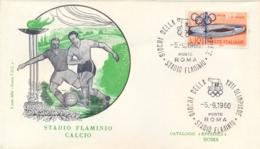 Italia Italy 1960 Annullo Speciale Su Busta 5 Settembre Roma Stadio Flaminio XVII Giochi Olimpici 17th Olympic Games - Estate 1960: Roma
