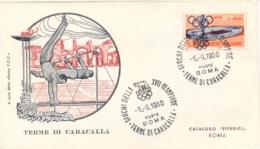 Italia Italy 1960 Annullo Speciale Su Busta 5 Settembre Roma Terme Di Caracalla XVII Giochi Olimpici 17th Olympic Games - Estate 1960: Roma
