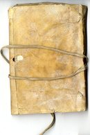 CARNET DE COMPTE DEBUT XIXéme  MANUSCRIT NOMBREUSES PAGES ECRITES  COUVERTURE EN PEAU - Manuscrits