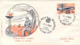 Italia Italy 1960 Annullo Speciale Su Busta 8 Settembre Roma Poligono Lazio XVII Giochi Olimpici 17th Olympic Games - Estate 1960: Roma