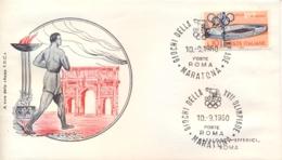 Italia Italy 1960 Annullo Speciale Su Busta 10 Settembre Roma Maratona XVII Giochi Olimpici 17th Olympic Games - Estate 1960: Roma
