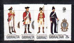GIBILTERRA 1976 , Uniformi  Serie N. 338/341  MNH  *** - Gibilterra