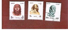 EGITTO (EGYPT) - SG 1916.1919  - 1994 ART WORKS (21X26)  - USED ° - Egitto