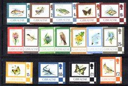 CI1047 - GIBILTERRA 1977 ,  Serie N. 348/363  MNH  ***  Ordinaria Fauna E Flora - Gibilterra