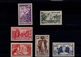 Côte D'Ivoire 1937 N° 133 à 138 Timbres Neufs* Avec Charnière (6 Valeurs) - Côte-d'Ivoire (1892-1944)