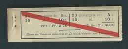 Belgique. 1914 Carnet Publicitaire Complet. - Booklets 1907-1941