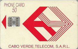 Cabo Verde - Cabo Verde Telecom - Red Logo (Cn. C59152672 Orange) 09.1995, 50U, SC7, Used - Cape Verde