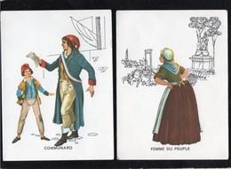 Chromos & Images > Fiches Illustrées > Non Classés Petites Images Communard Femme Du Peuple - Ohne Zuordnung