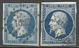 FRANCE - Oblitération Petits Chiffres LP 1523 HONFLEUR (Calvados) - Marcophilie (Timbres Détachés)