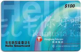 Hong Kong - HKT/C&W (Chip) - Hello Smartcard, Exp. 31.03.2000, Cn. PDAA - 100HK$, Used - Hongkong