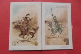 Cp La Charge +vive L'empereur Sugné Vallet Lot 2 Cartes - Characters