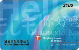 Hong Kong - HKT/C&W (Chip) - Hello Smartcard, Exp. 30.11.1999, Cn. PCAB - 100HK$, Used - Hongkong