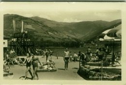 AK AUSTRIA - ZELL AM SEE - STRANDBAD - STAMPS - 1950s  (BG3968) - Zell Am See