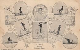 CPA (30) CONNAUX Acrobate Cycliste A. DORE Vélo Bicyclette Cycling Cirque Circus Cirk (2 Scans) - Circus