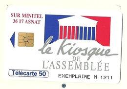 Télécarte France F425a - Kiosque De L' Assemblée - Neuve Avec Encart - Exemplaire Numéro 1211 - Rare - France