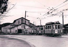 Chemin De Fer Tramways De Fribourg, Tram à Pérolles, Publicité CAMPARI Et SUZE, Photo 1965 TF 18.4 - FR Fribourg