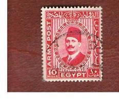 EGITTO (EGYPT) - SG A13  -  1936 ARMY POST: KING FAUD I  - USED ° - Servizio