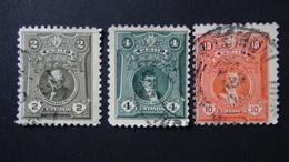Peru - 1925 - Mi:PE 203A,204,206A - Yt:PE 209-10,212 O - Look Scan - Peru