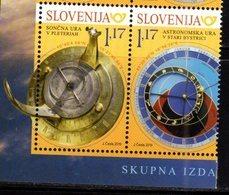 SLOVENIA , 2019, MNH, JOINT ISSUE WITH SLOVAKIA, SUNDIALS, ASTRONOMICAL CLOCKS, 2v - Emissioni Congiunte