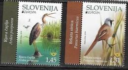SLOVENIA, 2019, MNH, EUROPA, BIRDS, 2v - 2019