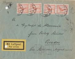 DR Brief Luftpost Mef Minr.4x 381 Berlin 4.7.29 Gel. Nach Argentienien - Deutschland
