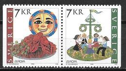 Suède 1998 2041/2042 Neufs En Paire Europa Festivals Nationaux - Unused Stamps