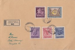 Böhmen Und Mähren R-Brief Mif Minr.113,114-116 DR Minr.828 Deutsch-Brod1.2.43 - Böhmen Und Mähren