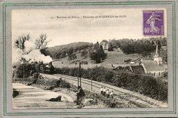 CPA - SAINT-QUENTIN-des-ISLES (27) - Aspect Du Train à Vapeur à L'approche De La Gare En 1928 - Otros Municipios