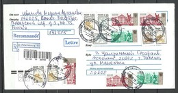 Russland RUSSIA 2007 Registered Cover To Estonia With Many Interesting Cancels And Stamps - 1992-.... Fédération