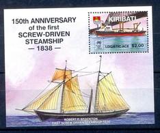 B107- Kiribati Sydpex 1988. Ship. 150th Annvi Of The First Screw-Driven Steamship 1838. - W.W.F.