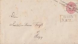 Preussen GS-Umschlag 1 Sgr. R2 Lehnin 8.8. Gel. Nach Belzig - Preussen