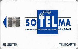Mali - SoTelMa - Blue Logo (SchlumbergerSema Issue Logo), 30U, 2 Orange Serials, SC7, Used - Mali