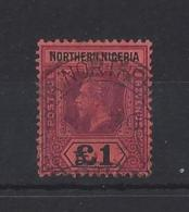 NORTHERN NIGERIA...KING GEORGE V.(1910-36)....£1....SG52......VFU..... - Nigeria (...-1960)