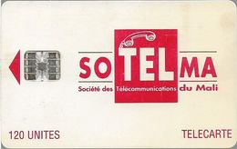 Mali - SoTelMa - Red Logo (SchlumbergerSema Issue Logo), 120U, 2 Impact Serials, SC7, Used - Mali