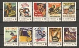 St Vincent - MNH Serie WORLD WAR II POSTERS - Seconda Guerra Mondiale