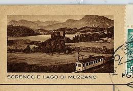 Carte Illustrée Obl. N° 163 - 0266   SOTRENGO E LAGO DI MUZZANO  (train - Railways) Obl. 03/10/48 - Entiers Postaux