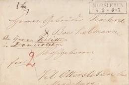 Preussen Brief R2 Morsleben 8.2. Mit Inhalt - Preussen