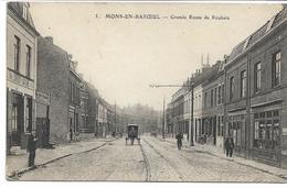 CPA NORD  MONS-EN-BAROEUL Grande Route De Roubaix édit Petit ELD N°3 Carte En Feldpost ! Cachet Police Militaire Lille - France