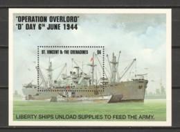 St Vincent Grenadines 1994 Mi Block 319 MNH WORLD WAR 2 - SHIPS - Boten