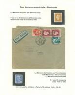 Journal La Tribune, Sherbrooke; M. Robidoux. Les Marianne De Gandon + Dulac Sur Enveloppe. FRAIS De POSTE (6958) - 1944-45 Marianne De Dulac