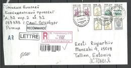 Russland RUSSIA 2004 Registered Cover To Estonia Interesting Registration Cachet St. Petersbourg - 1992-.... Fédération