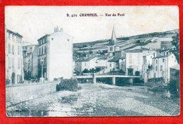 CPA - D63 -  CHAMPEIX - ( Puy-de-Dome ) - Oblitéré  1916 -  Vue  Du  Pont  ( Vue  Du  Village ) - No 425 - - France