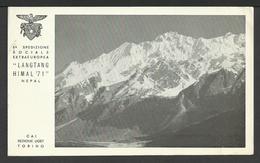Cartolina C.A.I. - 5^ SPEDIZIONE SOCIALE EXTRAEUROPEA LANGTANG HIMAL '71 - NEPAL Con Autografi - Alpinismo